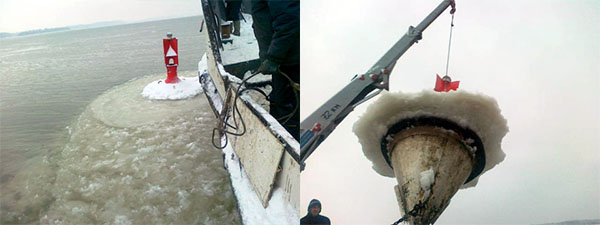 Zimsko obeležavanje plovnog puta